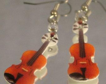 Violin Dangle Earrings - Violinist - Music Jewelry