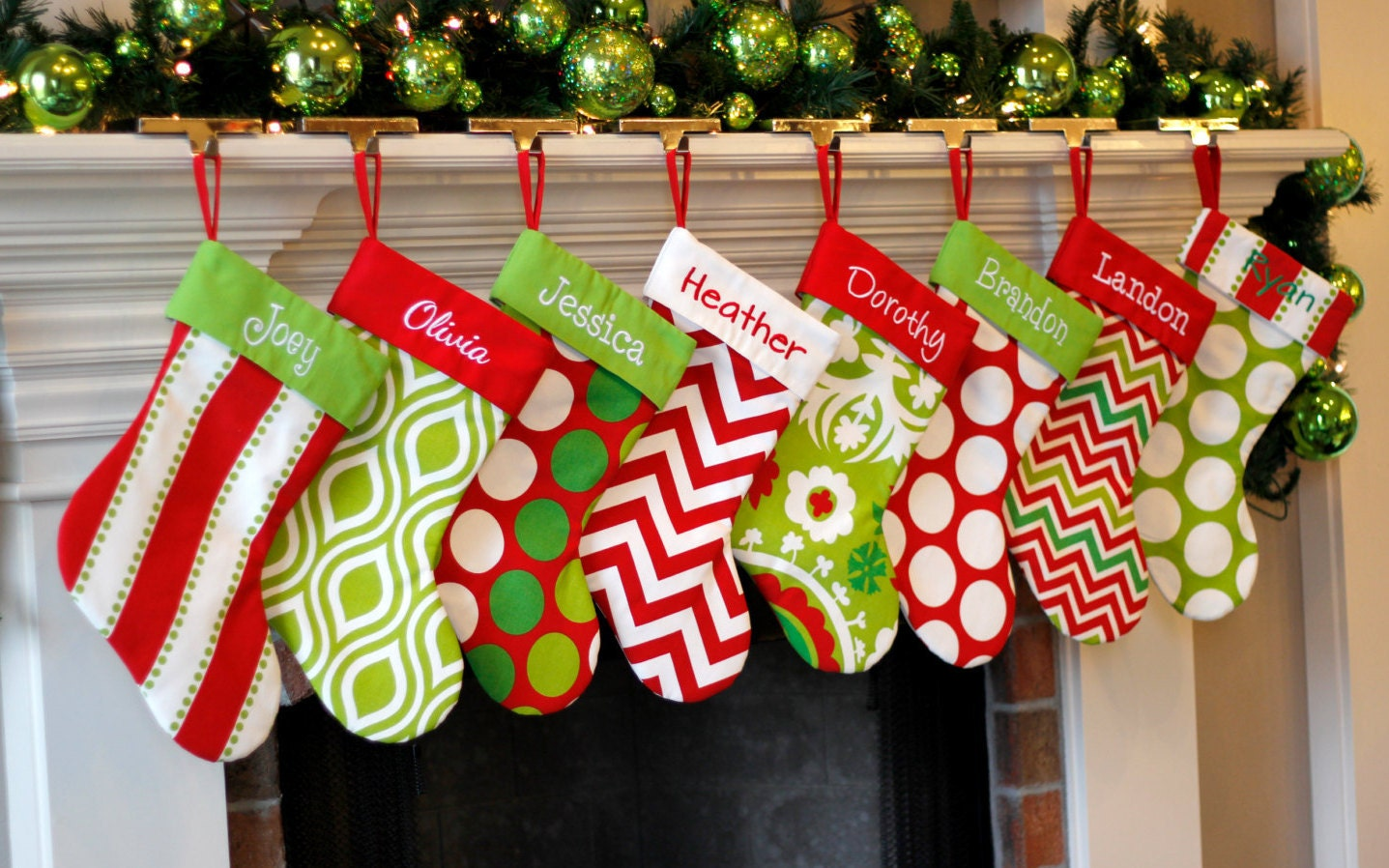 Personalized Christmas Stocking Monogrammed Christmas