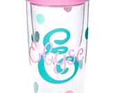 Personalized Wine Tumbler, Wine to Go, Mommys Sippy Cup, Monogrammed Wine Glass Tumbler