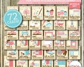 Chore Cards | HUGE Chore Card Collection | Full Set | Girl or Pink Theme | 72 Printable Cards | Instant Download | Chores | Bundle