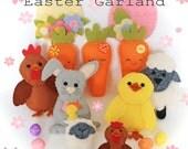 Easter garland PDF sewing pattern