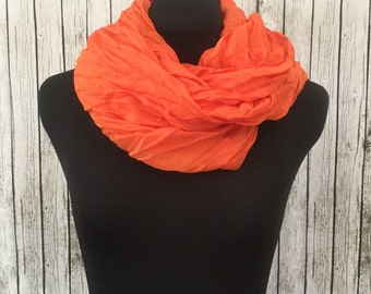 cotton crinkle scarf in flame