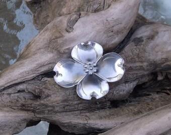 Sterling Silver Dogwood Blossom Brooch
