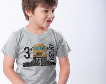 Yellow School Bus Birthday Shirt - Personalized 3rd Birthday T-Shirt (use your child's age or any number) - School Bus Party - Use Your Name