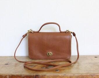 Vintage Coach Casino Bag // Mini Messenger Bag in British Tan 9924 // Crossbody Bag