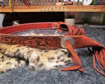 Tie leather belt , custom belt , ladies belt