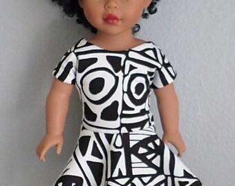 tie back dress for 18 inch dolls