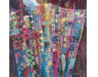Quilted Women art print Celebration
