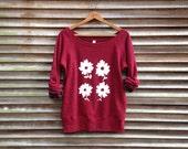 farmer's market Daisies Sweatshirt, Yoga Top, Gift for Mom, Floral Shirt, S,M,L,XL,XXL