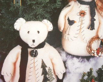 Pattern: Mistletoe & Holly by Keeping You in Stitches - Polar Bear and Bunny