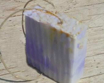 Lavender Orange Rope Soap - Hemp Soap on a Rope  - Hemp Oil All Natural Aromatherapy Soap - Moisturizing Lather - Birthday Gift