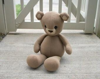 Large Tan Teddy Bear Plush