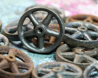 2 Vintage Lead Wheels