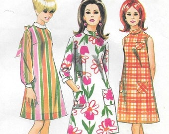 Bust 32 1966 Misses' Dress Size 12 McCall's 8645