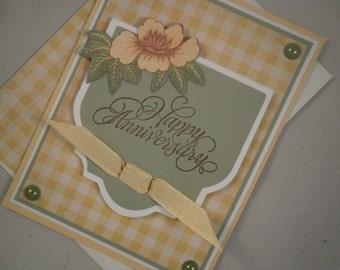 Happy Anniversary Card, Wedding Anniversary Card, Anniversary Card, Handmade Anniversary Card, Wedding Anniversary Card, Card for Spouse