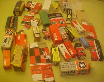 Vacuum Tube Boxes 30s to 60s vintage lot of 33