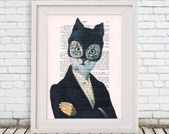 Cat Print, Batman Print, Holiday Gift, Kitty Print, Christmas gift, Coco de Paris, Cat batman
