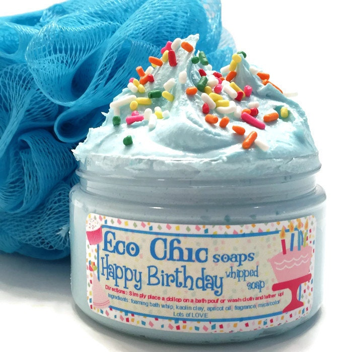 NEW Happy Birthday Whipped Soap Birthday Cake In A Jar