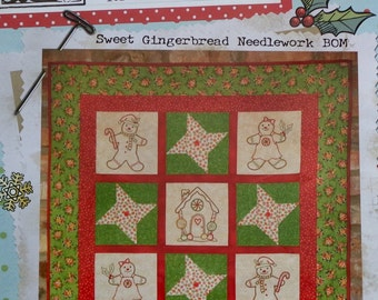 Buttermilk Basin | SWEET GINGERBREAD | Needlework BOM | Block Of The Month | - Embroidered Embroidery Stitchery Applique Quilt Pattern