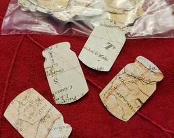 Mason Jars Cutouts Tags No Ties No Holes