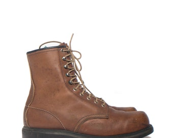"10.5 AA | Men's 8"" Red Wing Brown Work Boots"