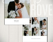 Wedding Album Template: Black Tie - 10x10  Wedding Book Template for Photographers