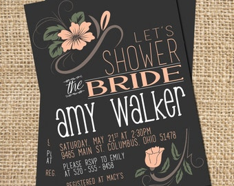Bridal Shower Invitation, Shower Invitation, Bridal Shower Invitation Printable, Bridal Shower Invite, Bridal Brunch, DIGITAL FILE