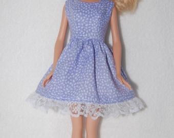 Barbie doll dress  Light purple with lace hem  A4B043