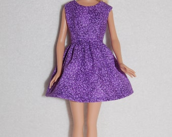 "Barbie doll dress Dark Purple A4B065  11.5"" fashion doll clothes"