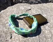 Legend of Zelda Headband - Video Game Fabric / Womens Head Band / Green Fabric / Cute Hair Accessories / Wide Hair Band / Geek Girl Gift