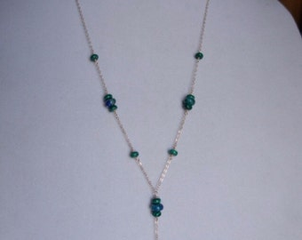 From the Midnight Moonlight Collection: Chrysocolla and Malachite