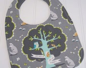 CLEARANCE/Baby Bib/Infant--18 mo./Les Amis/Organic Fleece Back
