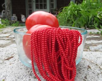 Small Tomatoe Red Beads 4MM Glass Beads
