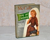 McCall's Sewing and Dressmaking Book by Marion Corey 1954 Sewing Book Hardcover with Dust Jacket Craft Supplies How Tos