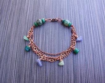 Made to order- Healing soothing/cooling gemstones with copper for electric conductivity