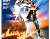 "Back to the Future - Home Theater Decor - 13""x19"" - Action Adventure Movie Poster Print - Michael J Fox - Christopher Lloyd"