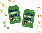 Personalized Printable Football Party Favor Tag - Printable Tags for Sports Birthdays, Sports party printable, Sports Party .. fb01