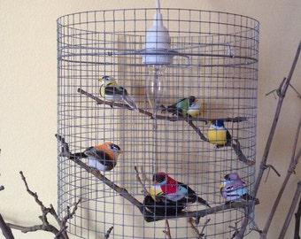 SALE - Birdcage Kids Bedroom Lamp Lighting Pendant Light Chandelier Lampshade Lampada