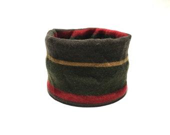 Medium Striped Merino Wool, Designer Dog Neck Warmer,Pet Puppy Accessory