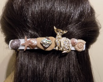 Large Barrettes for Thick Hair/ Cat Barrette/Womens Gift