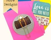 Planner Paper Clip, Designer watercolor Planner Clips. Glam Fashion suitcases. Designer suitcases - Novelty Paper Clips | Novelty Magnets LV