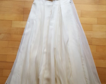 Petite JS Collections ivory white gown, 90s (UK6/US4/EUR34)
