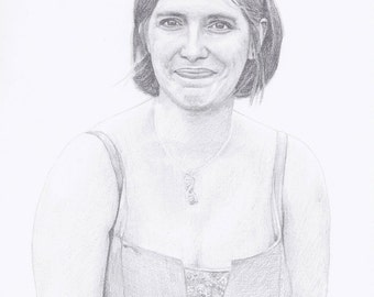 """Custom Portrait 8x10"""" - Drawing From Your Photo - Single Subject"""