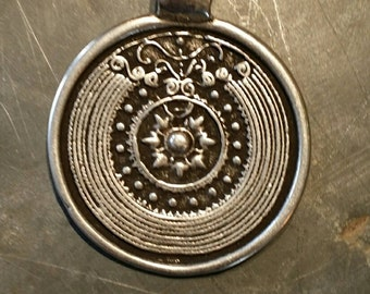 Large Silver focal Pendant