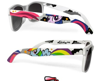 Gift for her My Little Pony wayfarer Sunglasses girl Wayfarer style sunglasses unique hand painted