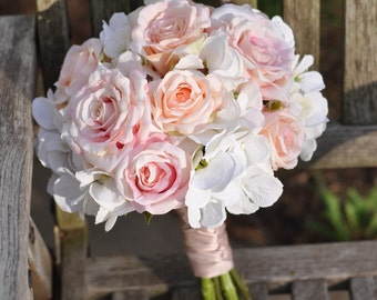wedding flowers wedding bouquet keepsake bouquet bridal bouquet blush pink and ivory hydrangea