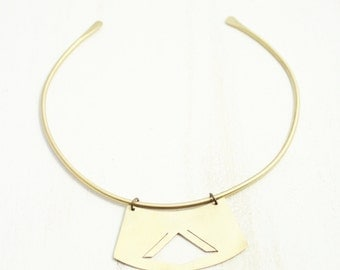 Sol Collar. Brass Necklace.