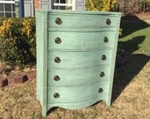 Chic and Shabby Sea Green Dresser / Chest of Drawers
