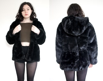 Fuzzy Luxe Black Faux Fur Coat