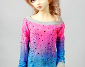 SD/Super Gem Glitter Ombre Top For BJD - Last One